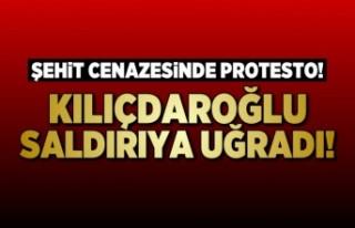 CHP Lideri Kılıçdaroğlu'na cenaze'de...