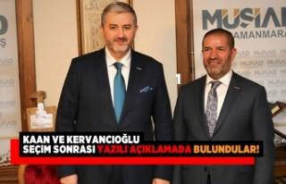 Kaan ve Kervancıoğlu seçim sonrası yazılı açıklamada...