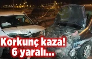 Korkunç kaza! 6 yaralı!