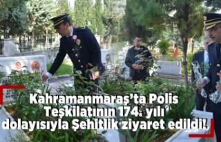 Polis Teşkilatı 174. yılı dolayısı ile Şehitliği...