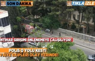 Kahramanmaraş'ta intihar girişimi önlenmeye...