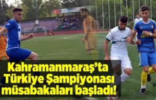 Kahramanmaraş'ta Türkiye Şampiyonası müsabakaları...