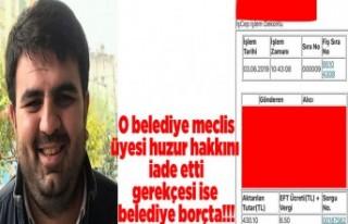 CHP'li üye huzur hakkını geri iade etti