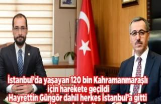 İstanbul'da yaşayan 120 bin Kahramanmaraşlı...