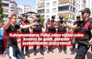 Kahramanmaraş Polisi asker eğlencesinde konvoy yaptı
