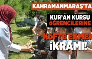 Kahramanmaraş'ta kur'an kursu öğrencilerine...