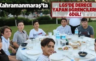 Kahramanmaraş'ta LGS'de derece yapar öğrencilere...