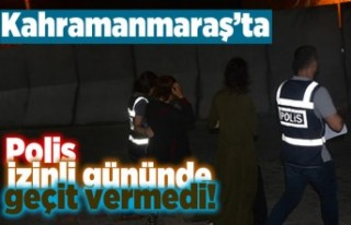 Kahramnmaraş'ta Polis izinli gününde geçit...