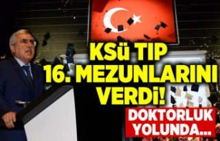 KSÜ TIP 16. MEZUNLARINI VERDİ...