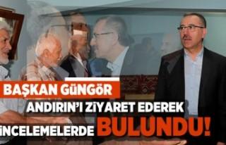 Başkan Güngör Andırın'ı ziyaret ederek...