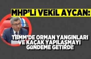 MHP'Lİ VEKİL AYCAN: TBMM'DE ORMAN YANGINLARI...
