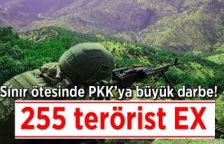 Sınır ötesinde PkK'ya büyük darbe! 255 terörist...