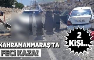 Son dakika... Kahramanmaraş'ta kaza! 2 kişi...