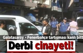 Galatasaray - Fenerbahçe tartışması kanlı bitti!...