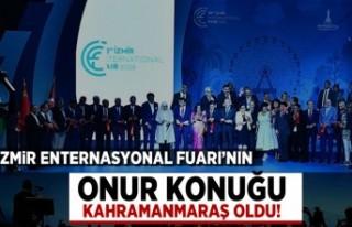 İzmir Enternasyonal Fuarı'nın onur konuğu...