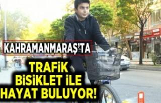 Kahramanmaraş'ta trafik bisiklet ile hayat buluyor!