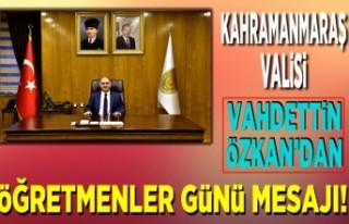 Kahramanmaraş Valisi Vahdettin Özkan 24 Kasım Öğretmenler...