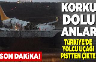Korku dolu anlar, Türkiye'de yolcu uçağı...