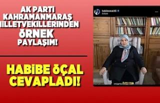 AK Parti Kahramanmaraş Milletvekili Habibe Öçal,...