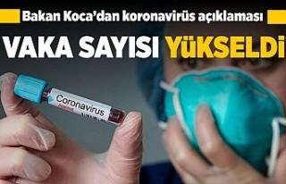 Bakan Koca'dan korona virüs açıklaması! Vaka...