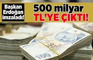 Başkan Erdoğan imzaladı! 500 milyar TL'ye...