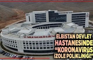 Elbistan Devlet Hastanesinde 'koronavirüs izole...