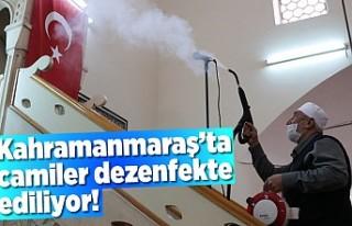 İmamlar Camileri dezenfekte ediyor!