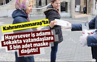 Kahramanmaraş'ta hayırsever iş adamı vatandaşlara...