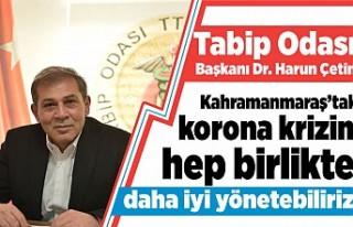 Kahramanmaraş Tabip Odası Başkanı Dr. Harun Çetin:...