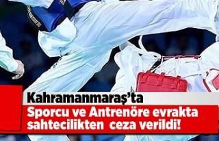 KAHRAMANMARAŞ'TA SPORCU VE ANTRENÖRE EVRAKTA SAHTECİLİK...