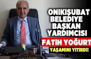 Onikişubat Belediye Başkan yardımcısı Fatih Yoğurt...