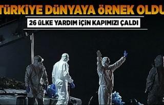 Türkiye dünyaya örnek oldu! 26 ülke yardım için...
