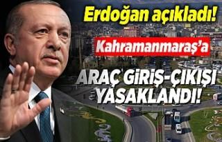 Cumhurbaşkanı Erdoğan açıkladı! ''Kahramanmaraş'a...