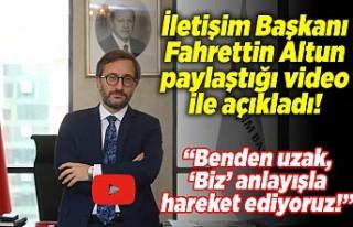 İletişim Başkanı Fahrettin Altun açıkladı ''Benden...