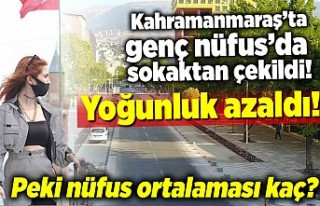 Kahramanmaraş'ta genç nüfus'da sokaktan...