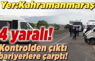 Kahramanmaraş'ta işçi servisi bariyerlere...