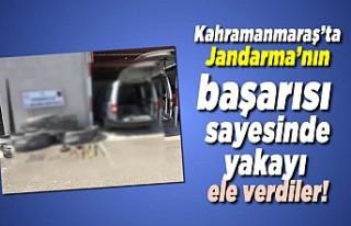 Kahramanmaraş'ta jandarma yakaladı, 3 Gözaltı!