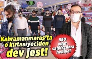 Kahramanmaraş'ta o kırtasiyeciden sağlık...