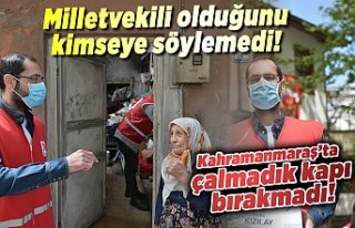 Kahramanmaraş'ta o milletvekili kızılay gönüllüsü...