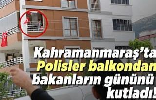 Kahramanmaraş'ta polis balkonlardan izleyenlerin...