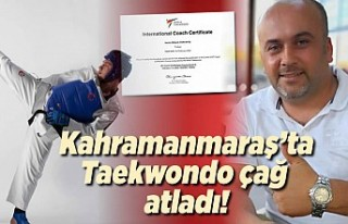 Kahramanmaraş taekwondo'da çağ atladı!