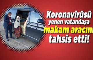Koronavirüsü yenen yaşlı kadına makam aracını...