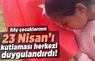 Köy çocuklarının 23 Nisan'ı kutlaması herkezi...