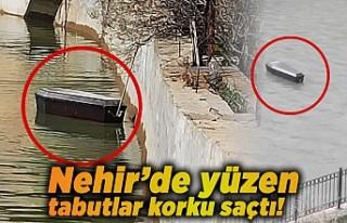 Nehir'de görülen tabutlar dehşet saçtı!