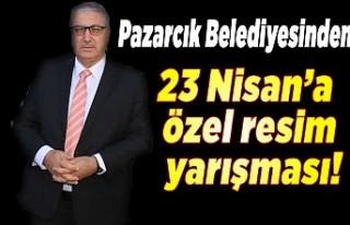 Pazarcık Belediyesinden 23 Nisan'a özel resim...