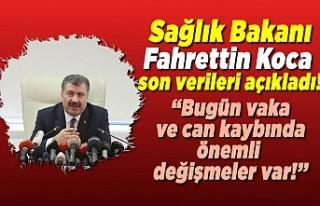 Sağlık Bakanı Fahrettin Koca açıkladı! ''Bugün...
