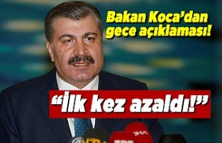 Sağlık Bakanı Fahrettin Koca açıkladı! ''İlk...