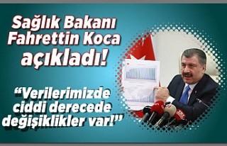 Sağlık Bakanı Fahrettin Koca açıkladı! ''Verilerimizde...