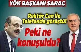 YÖK Başkanı Saraç, Rektör Niyazi Can ile