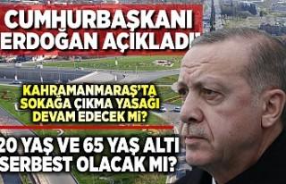 Cumhurbaşkanı Erdoğan açıkladı! Kahramanmaraş'ta...